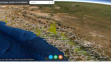 Visor 3D del COVID-19 en Chile